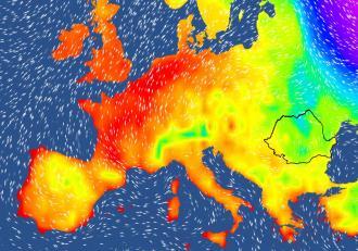 Val de aer tropical deasupra Europei. S-au depășit recorduri de temperatură în România, Germania și Austria
