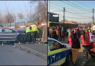 Fetiță ucisă pe trotuar de o mașină scăpată de sub control, în București. O altă tânără a fost rănită, șoferița și soțul ei au fost bătuți de martori