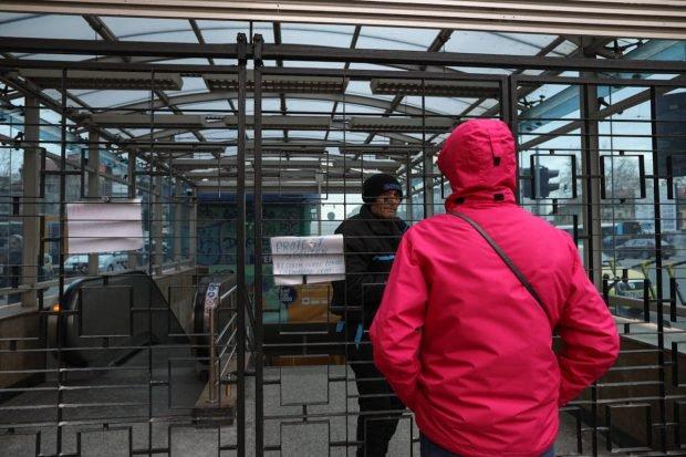 Protest spontan la metrou. Sindicaliştii au blocat staţia Piaţa Unirii