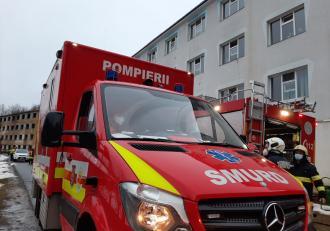 Incendiu la un spital de psihiatrie din județul Maramureș: 71 de persoane au fost evacuate