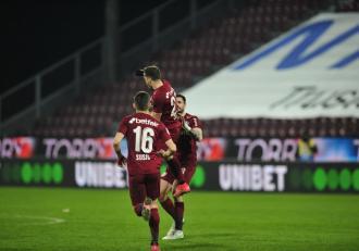 CFR Cluj, show cu Politehnica Iaşi înainte de derbiul cu FCSB din Liga I la fotbal
