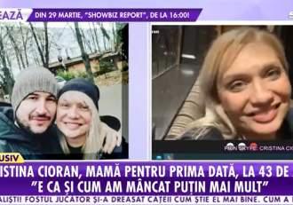 """Cristina Cioran, dezvăluiri la Antena Stars, despre sarcină! Vedeta urmează să devină mamă la 43 de ani: """"Mi-a fost teamă să nu o pierd"""""""