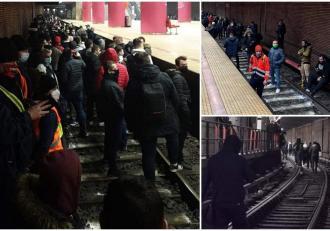 Haos la metroul din Bucureşti. Sute de oameni au coborât în tunel, în staţia Piaţa Unirii, trenurile nu circulă
