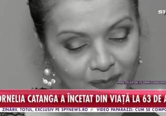 """Apropiații, distruși de moartea Corneliei Catanga. Florin Condurățeanu: """"A avut un destin greu"""""""