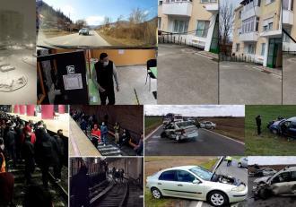 Topul Fii Observator. Sute de angajaţi  Metrorex au protestat în staţia Piaţa Unirii; Momentul în care o maşină de poliţie face o depăşire periculoasă pe un drum din Neamţ