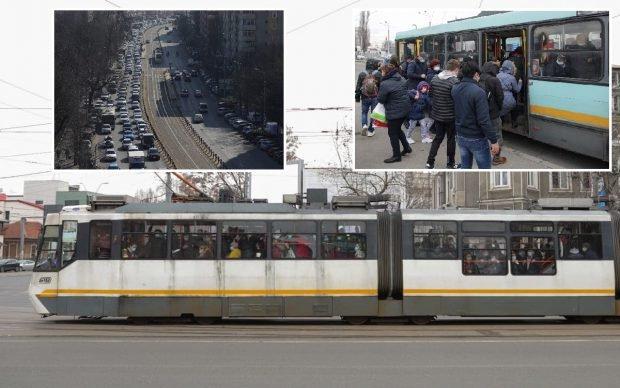 Imagini din Bucureștiul fără metrou. Mii de oameni s-au înghesuit în tramvaie, autobuze și troleibuze, traficul a fost infernal în Capitală