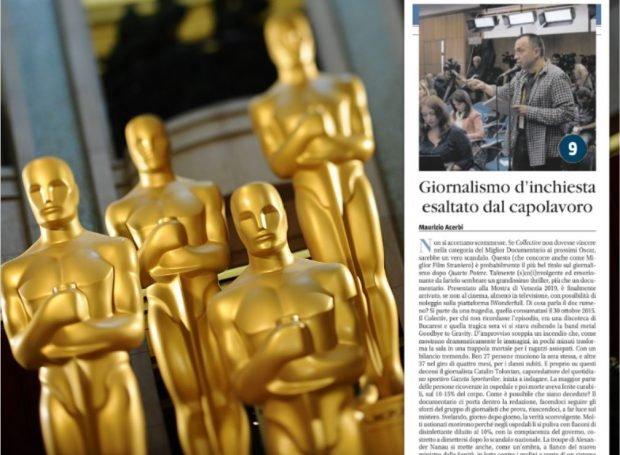 """Organizatorii Oscar refuză """"Zoom"""", iar ziarul italian Il Giornale scrie că """"dacă filmul românesc Colectiv nu câștigă ar fi un adevărat scandal"""""""