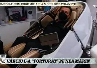 Nea Mărin, primul care a încercat noul scaun de masaj al lui Liviu Vârciu. Ce i-a spus concurentul Te cunosc de undeva / VIDEO