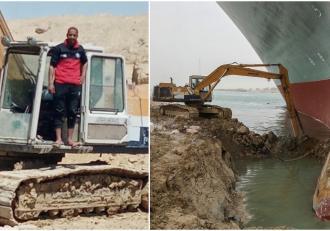 Bărbatul care a condus excavatorul mic de pe malul Canalului Suez nu s-a bucurat de meme-uri. Glumele l-au făcut mai motivat