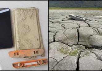 Un bărbat și-a găsit după un 1 an telefonul scăpat într-un lac, în urma secetei masive din Taiwan. Ce accesoriu i-a păstrat smartphone-ul complet funcţional