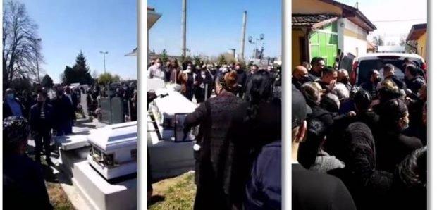 Înmormântare cu zeci de oameni, live pe Facebook, în Timiș. Polițiștii au dat amenzi de 16.000 de lei
