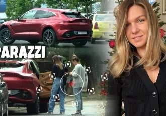 Cum conduce Simona Halep noul bolid de 300 de mii de euro. Sportiva și-a lăsat și prietena să testeze bijuteria pe patru roți / PAPARAZZI