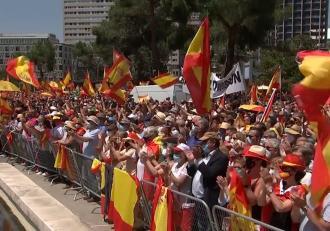 Protest în Madrid: Peste 25.000 de oameni au ieşit în stradă, nemulţumiţi de intenţia Guvernului de a graţia 12 politicieni
