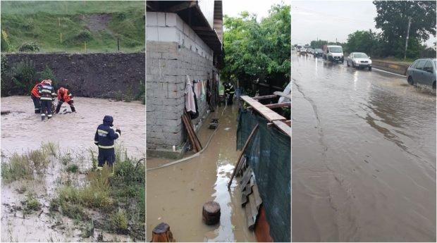 Ce au lăsat în urmă ploile torențiale de vineri: doi morți și inundații în 15 județe și București