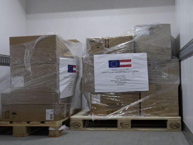 România a primit mai multe tipuri de medicamente din Austria, prin Mecanismul European de Protecție Civilă