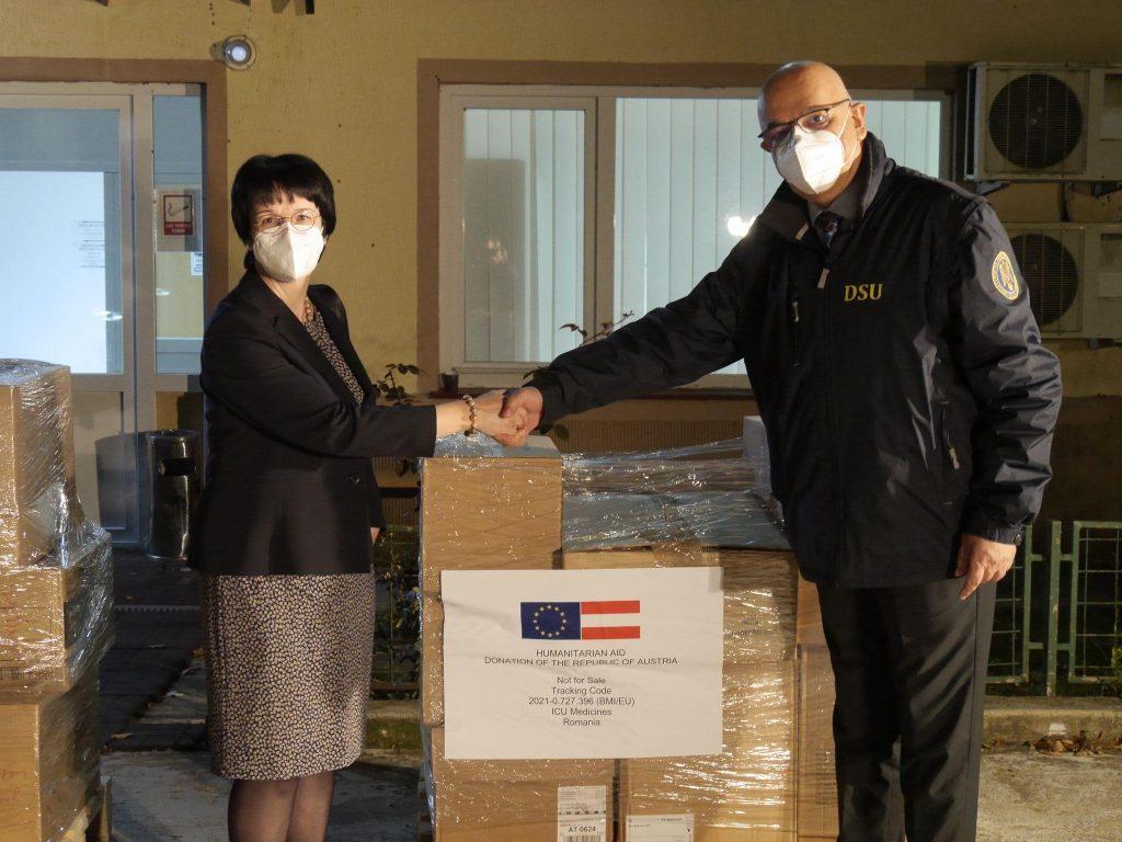 Austria a donat României mai multe tipuri de medicamente vitale în tratarea Covid-19